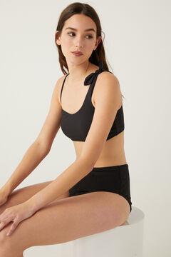 Springfield Asymmetric bikini top black