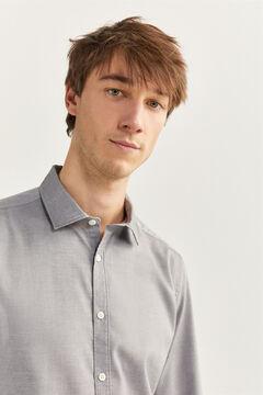Springfield Slim fit dobby shirt grey