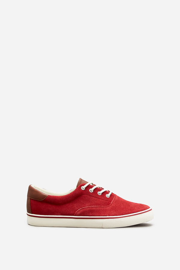 77f75cbc0 Springfield Sneakers atacadores pele vermelho