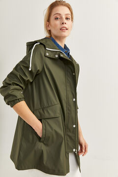 Springfield Chaqueta Impermeable verde hoja