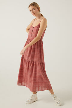 Springfield Long pink lurex dress bordeaux