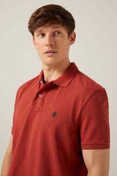 Springfield Marl polo shirt terracotta