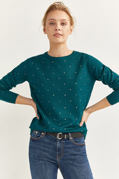 Springfield Studded Star Jumper navy