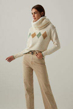 Springfield Wool blend diamonds jumper beige