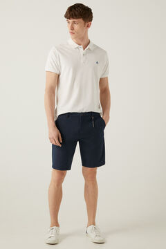 Springfield Two-tone textured Bermuda shorts bluish