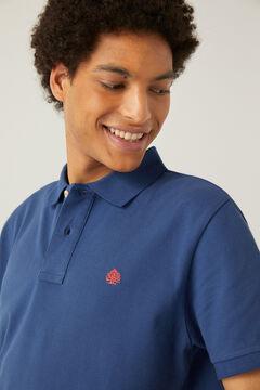 Springfield Galléros sima piké póló kék