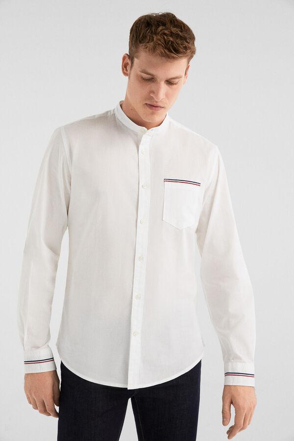90dce298fd Springfield Camisa popelín blanco