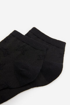 Springfield Textured Star Socks black