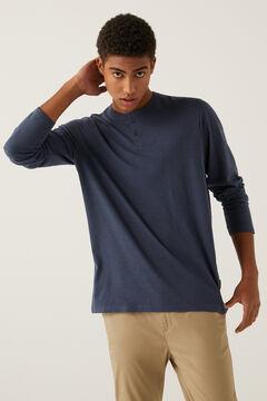 Springfield Henley long-sleeved t-shirt bluish