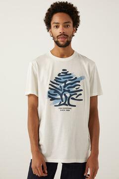 Springfield Logo t-shirt ecru