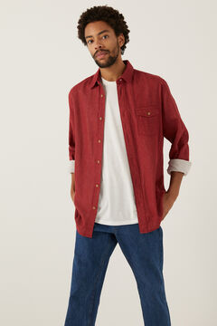 Springfield Double-faced shirt deep red