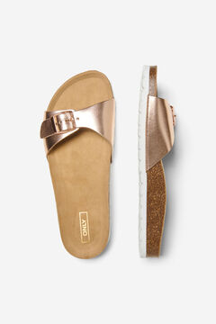 Springfield Metallic sandals banana