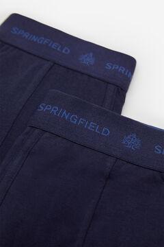 Springfield 2ER-PACK BOXERSHORTS KLASSISCH blau