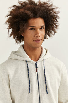 Springfield ESSENTIAL HOODED SWEATSHIRT grey mix