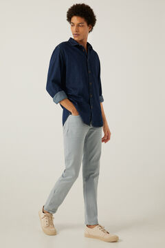 Springfield Pantalón 5 bolsillos slim lavado azul
