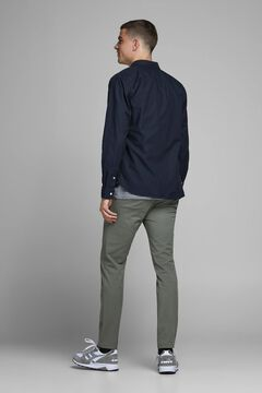 Springfield Basic cotton shirt marineblau
