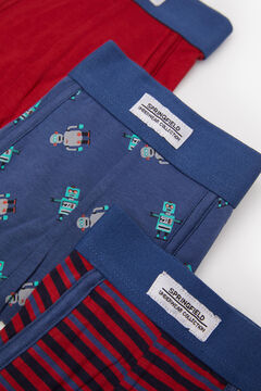 Springfield Pack 3 boxers robots rojo real