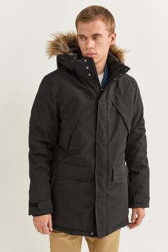 Springfield PARKA LONGUE DÉPERLANTE REMBOURRAGE DUPONT™ SORONA® KEEP IT WARM! noir