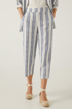 Springfield Sustainable linen culottes blue