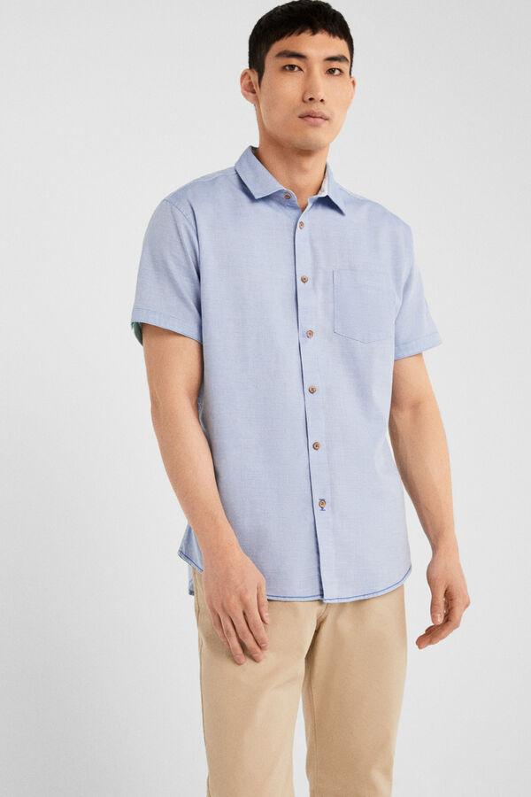 9ddd60e11b8 Springfield Camisa estructura azul indigo · Comprar