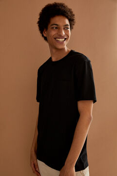 Springfield Boxy t-shirt with pocket black