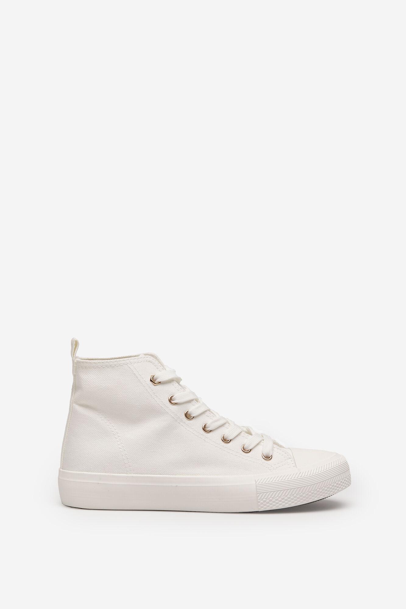 Canvas high top sneaker
