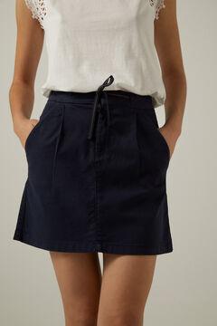 Springfield Falda chino lazo cintura azul indigo