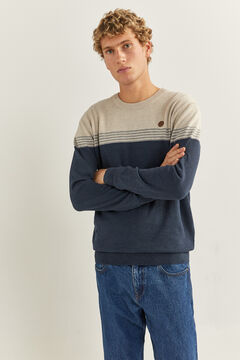 Springfield Essential colour block jumper camel