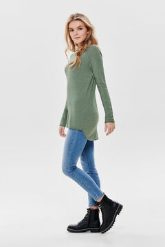 Springfield Long-sleeved round neck jumper zöld