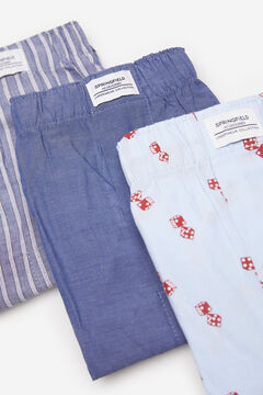 Springfield 3-PACK DICE WOVEN BOXERS bluish
