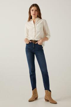 Springfield Organic cotton linen blouse ecru