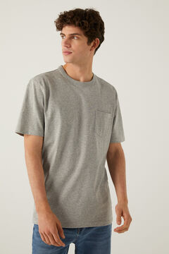 Springfield Boxy t-shirt with pocket gray