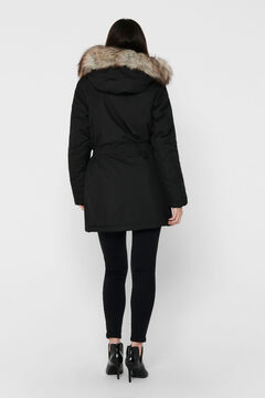 Springfield Parka with fur hood black