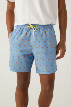 Springfield Ice lolly print swimming shorts navy mix