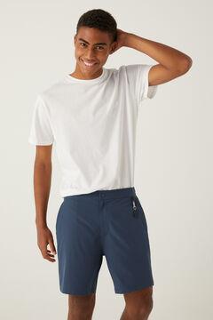 Springfield Quick dry stretch hybrid swimming shorts bluish