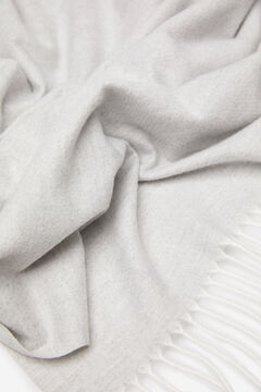 Springfield Plain fringed scarf gray