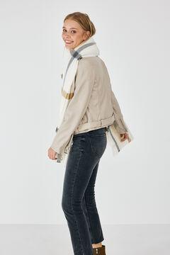 Springfield Belted biker jacket camel