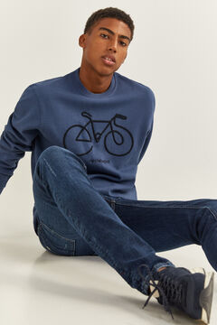 Springfield SWEAT-SHIRT RAS DU COU BICYCLETTE bleu indigo