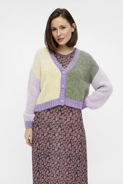 Springfield Cardigan color block purple