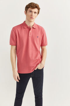 Springfield Essential piqué polo shirt pink