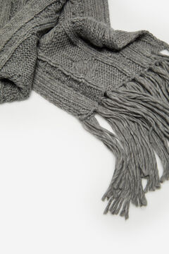 Springfield Cable Knit Scarf gray