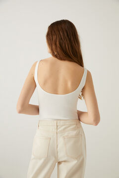 Springfield Ribbed organic cotton body medium beige