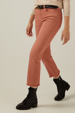 Springfield Coloured kick flare trousers grey