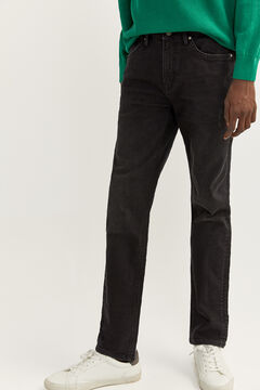 Springfield WASHED BLACK SLIM FIT JEANS black