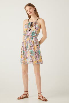 Springfield Kurzes Neckholder-Kleid esmeralda
