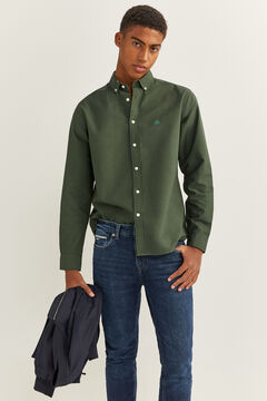 Springfield OXFORD SHIRT dark green