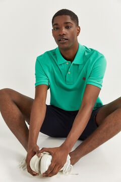 Springfield ESSENTIAL PIQUE POLO SHIRT green water