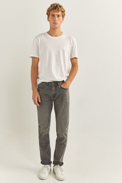 Springfield GREY DARK WASH SLIM JEANS grey