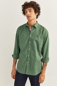 Springfield CAMISA PINPOINT STRETCH verde oscuro