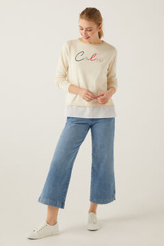 "Springfield ""Calm"" Two-Material Jumper beige"